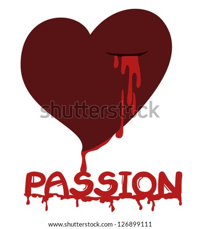 Passion heart - stock vector