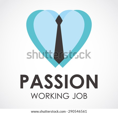 Passion tie business office work logo element symbol shape icon vector design template abstract company working job - stock vector