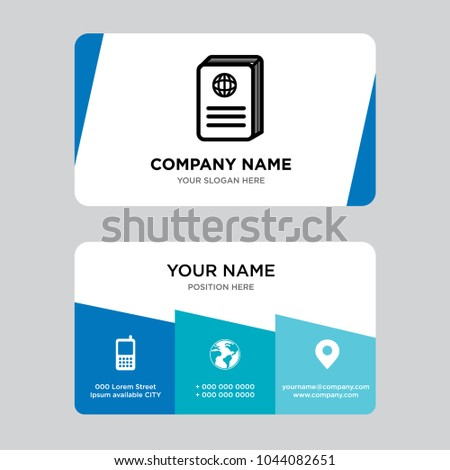 Passport business card design template visiting stock vector passport business card design template visiting for your company modern creative and clean identity colourmoves