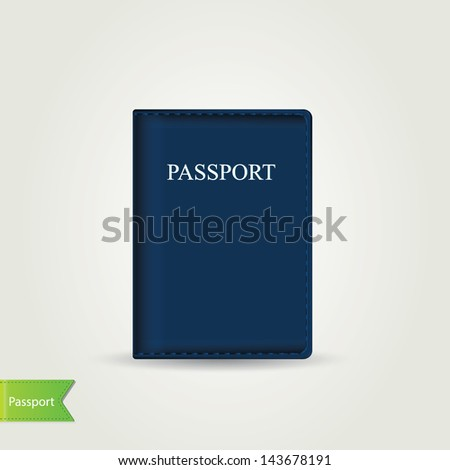 Passport cover isolated.Vector illustration. - stock vector