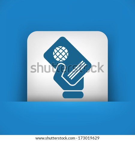 Passport icon - stock vector