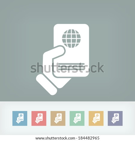 Passport icon - stock vector