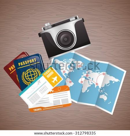 passport to travel design, vector illustration 10 eps graphic - stock vector