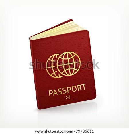 Passport, vector - stock vector