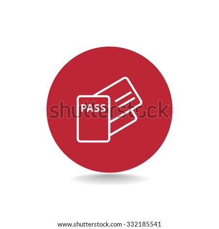 Passport vector icon. - stock vector