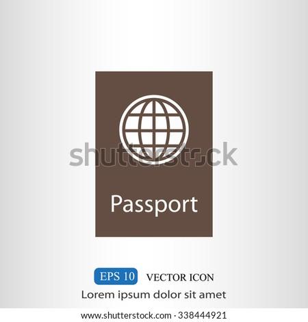 Passport vector icon - stock vector