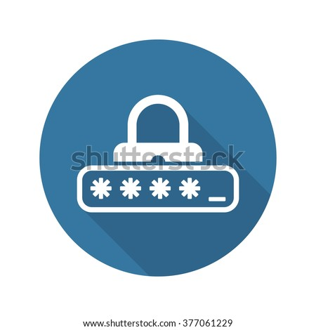 Password Protection Icon. Flat Design. Business Concept Isolated Illustration. - stock vector