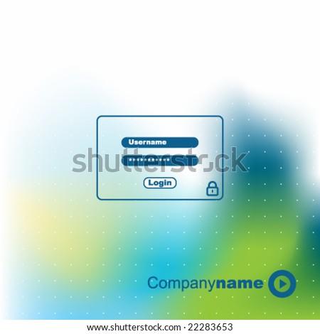 Password security window - stock vector