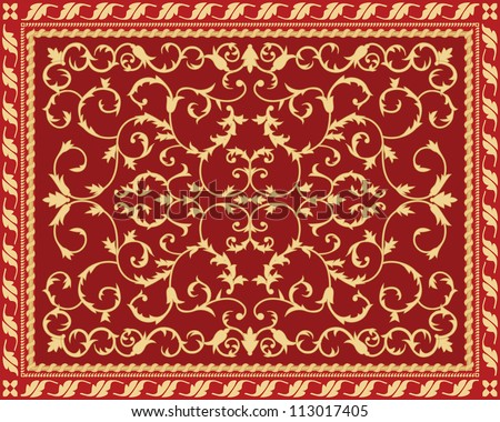 Past time carpet - stock vector