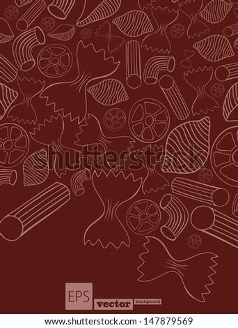pasta - stock vector