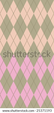 Pastel colored argyle seamless pattern - stock vector