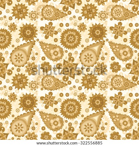 Pastel ethnic tribal seamless flat vector pattern