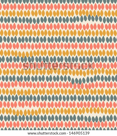 Pastel floral decorative pattern. Decorative ethnic background with rows of leafs - stock vector
