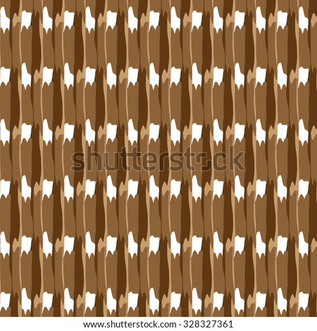 Pastel gentle pattern consisting of intersection of wavy, uneven, lines and strokes of different shades of brown color on a white background. New original colored vector illustration. - stock vector