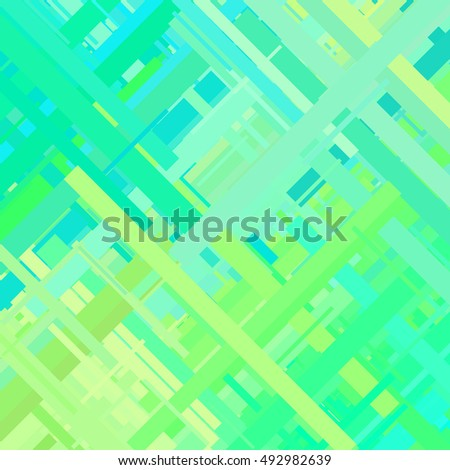 Pastel green glitch background, distortion effect, abstract texture, random trend color diagonal lines for design concepts, posters, wallpapers, presentations and prints. Vector illustration.