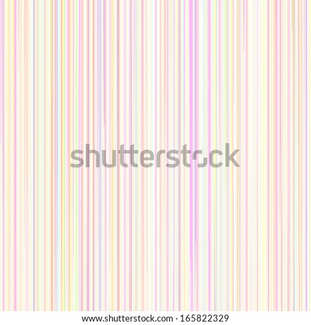 Pastel Line Pattern in Rainbow Colors on Light Background, vector - stock vector