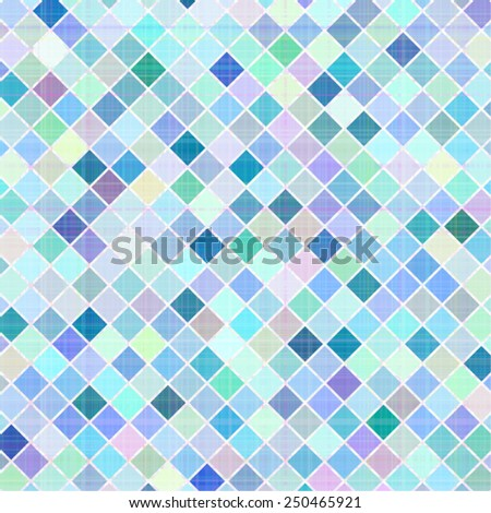 Pastel multicolored stripes mosaic plaid - stock vector