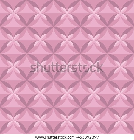 pastel pale color tender floral tile. vintage retro style geometry seamless pattern. vector illustration of repeatable motif - stock vector