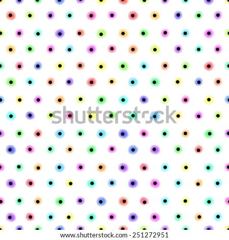 Pastel polka dot seamless pattern for your design - stock vector