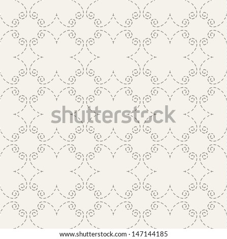 Pastel seamless pattern with geometric stitched elements.  - stock vector