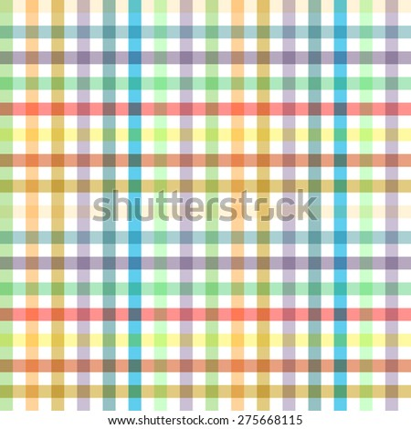 Pastel Tablecloth Multiply Colors Pattern - stock vector