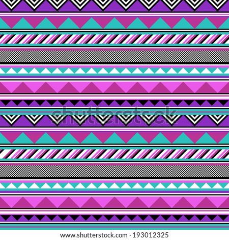 Pastel tribal stripes - stock vector