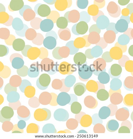Pastel  vector seamless pattern with circle - stock vector