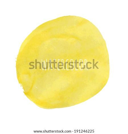 Pastel Watercolor Blob, Vector Illustration - stock vector