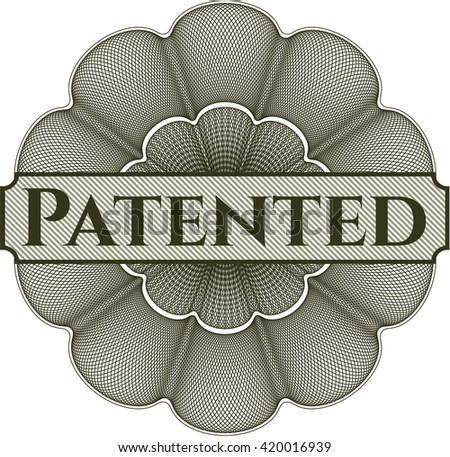 Patented abstract linear rosette - stock vector