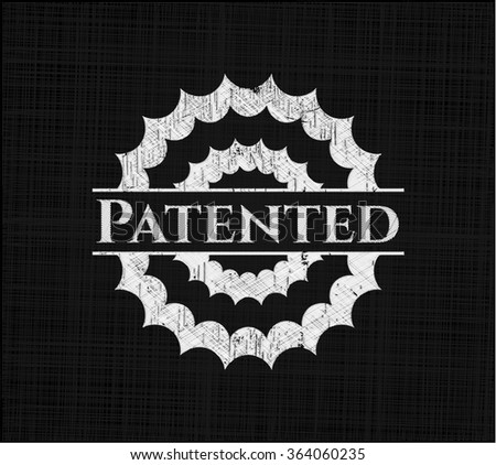 Patented chalk emblem - stock vector