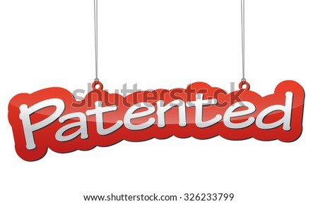 patented, red vector patented, red tag patented, background patented, illustration patented, element patented, sign patented, design patented, picture patented, patented eps10 - stock vector