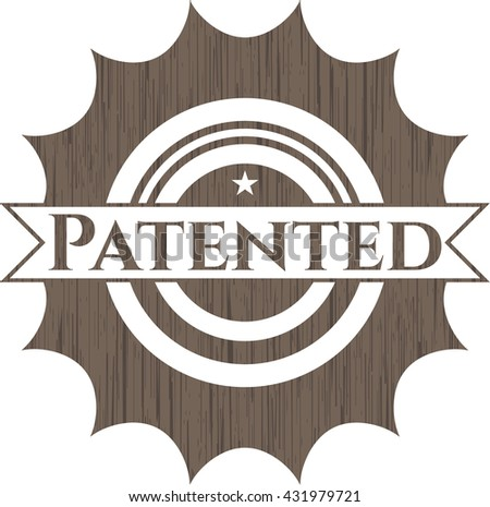 Patented wood signboards - stock vector
