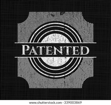 Patented written on a blackboard - stock vector