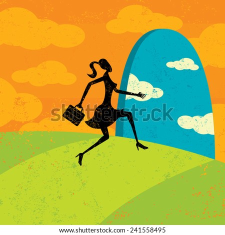 Path to New Opportunities - stock vector