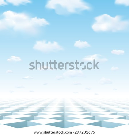 Path to success - Chess game with traps - Unknown future - Hope - Without the beginning or the  end - Eternal repetition. - stock vector