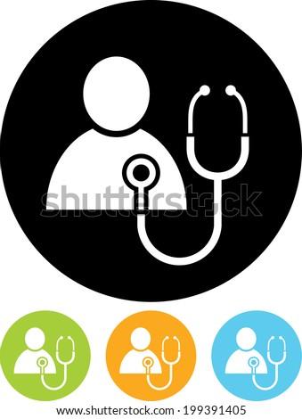 Patient heart test vector icon - stock vector