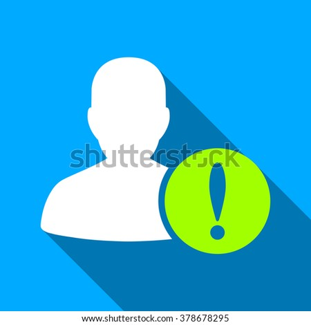 Patient Problem long shadow vector icon. Style is a flat light symbol with rounded angles on a blue square background. - stock vector