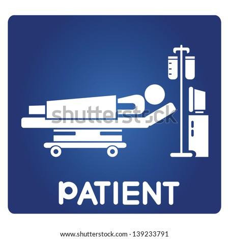 patient sign - stock vector