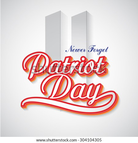 Patriot Day background.  United States of America - stock vector