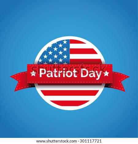 Patriot day - September 11 icon - stock vector