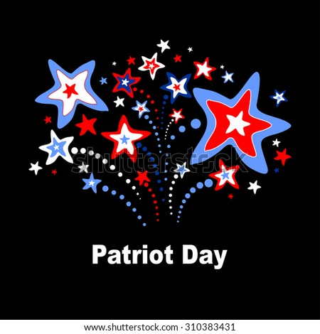 Patriot Day USA.  Vector Illustration - stock vector