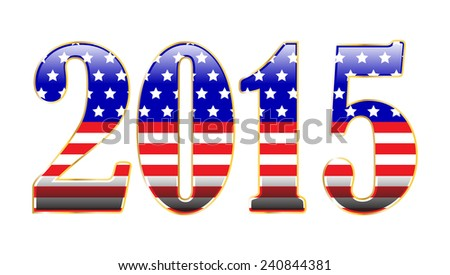 Patriotic 2015 - stock vector