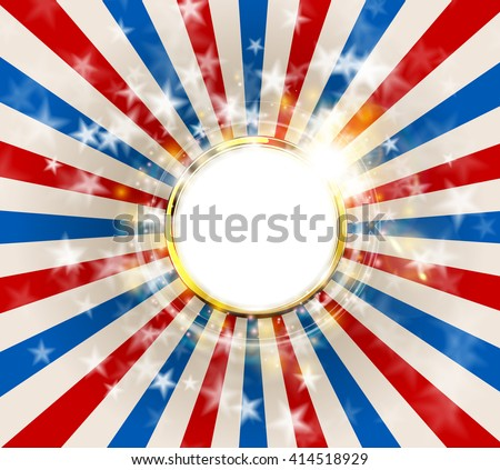 Patriotic abstract background United States of America, USA flag color. American Memorial Day or Independence Day concept vector design - stock vector