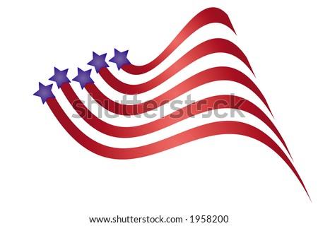 Patriotic graphic. - stock vector