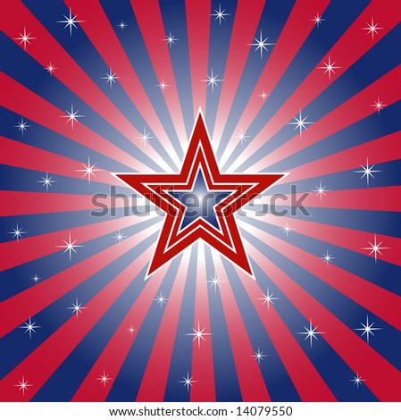 Patriotic Star - Vector