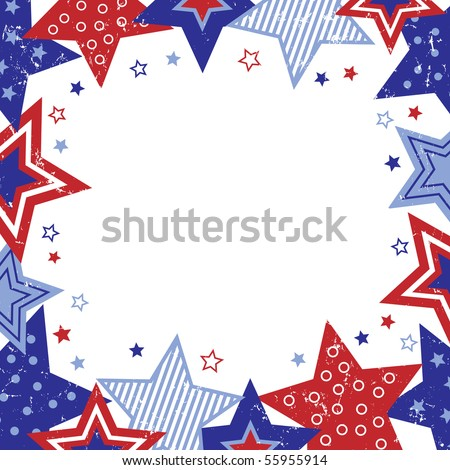 Patriotic Stars Border Vector