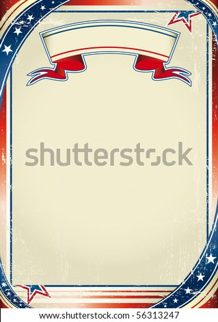 Patriotic US background. An american background for a poster. - stock vector