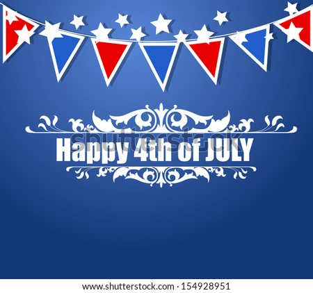 Patriotic - US 4th of July - Independence Day Vector Design - stock vector