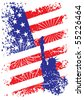patriotic usa background with liberty - stock vector