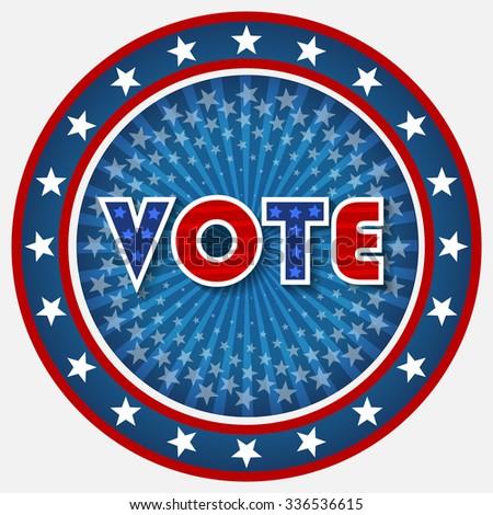 Patriotic Vote Design - stock vector